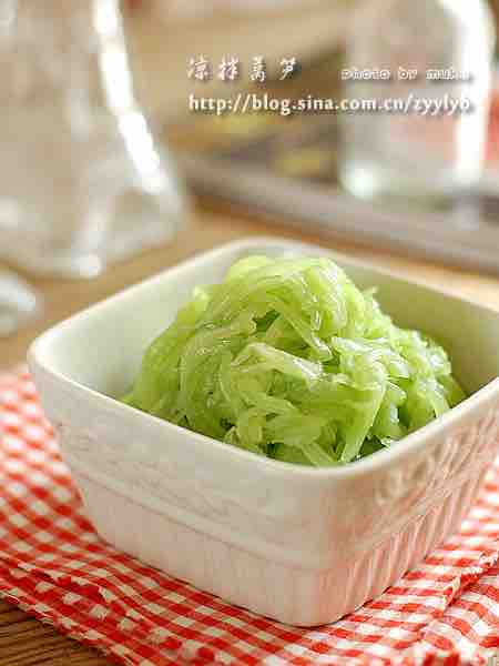 Pickled Asparagus Lettuce – Authentic Chinese Food Recipes ...