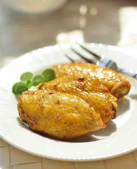 baked curry chicken wing