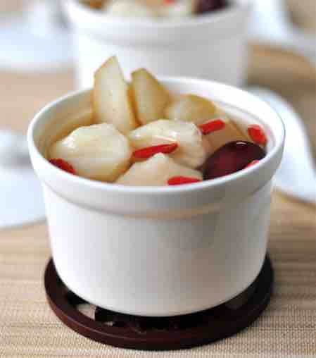 water chestnut pear soup