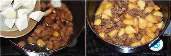 white turnip beef stew recipe is a classic traditional ancient Chinese ...
