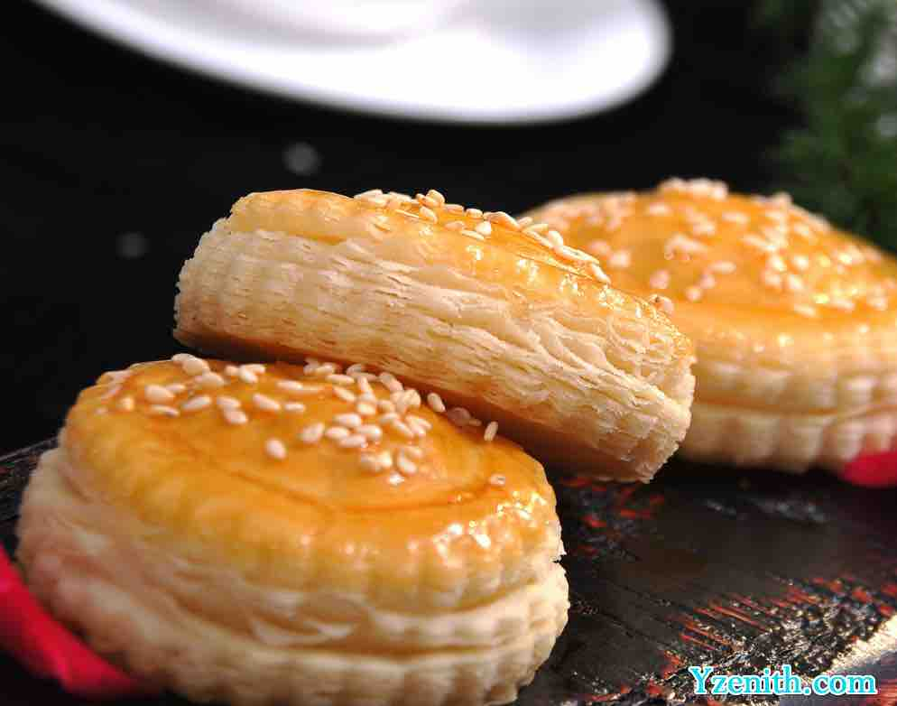 Health ways to cook chicken in Southern China Guangdong Dim Sum-Crispy Durian Cake