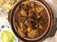 Lamb Stew with Dried Tofu Skin Clay Pot